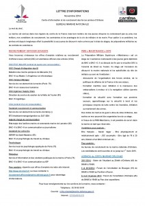 Newsletter Novembre 2014 page1